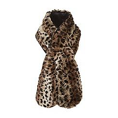 Dune - Multicoloured 'Lexxy' leopard print faux fur scarf