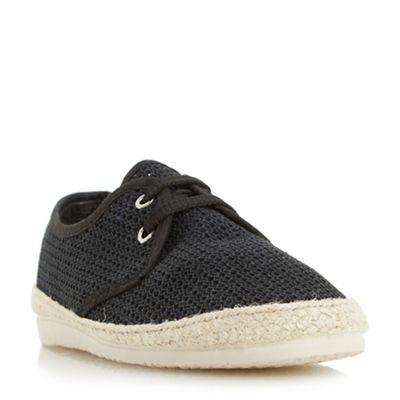Bertie - Black 'Fruit' lace up mesh espadrille shoes
