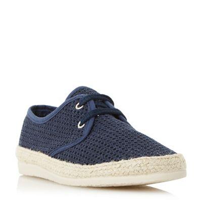 Bertie - Navy 'Fruit' lace up mesh espadrille shoes