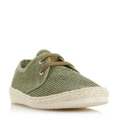 Bertie - Khaki 'Fruit' lace up mesh espadrille shoes