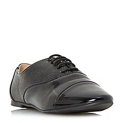 Head Over Heels by Dune - Black 'Grandey' mixed material lace up shoes