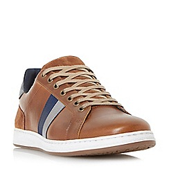 Dune - Tan 'Theo' contrast panel trainers