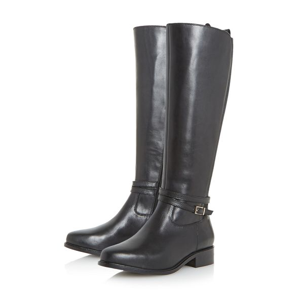 knee riding Black taro' high Dune boots wide fit 'W WnX06wqUP