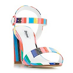 Dune - Multicoloured 'Marraca' rio stripe block heel sandals