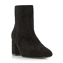 Dune - Black 'Olyvea' mid block heel ankle boots