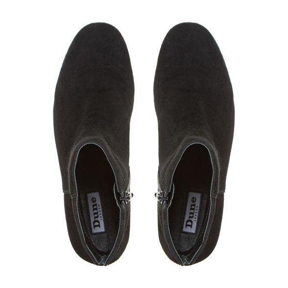 boots heel 'Olyvea' ankle mid Dune block Black 4W6pznxnY