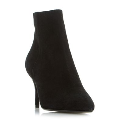 Dune - Black 'Osha' point toe side zip ankle boots