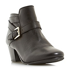 Dune - Black leather 'Perda' ankle boots