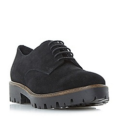 Dune - Black 'Furne' cleated sole lace up shoes