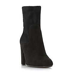 Dune - Black 'Oliah' block heel side zip ankle boots