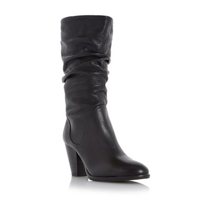 Dune - Black 'Rossy' slouch pull on calf boots