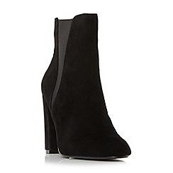 Steve Madden - Black suede 'Effect Steve Madden' high block heel ankle boots