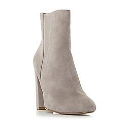 Steve Madden - Grey suedeEffect high block heel ankle boots