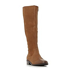 Steve Madden - Tan leather 'Jollie' block heel knee high boots
