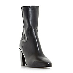 Dune Black - Black 'Padock' mid block heel ankle boots