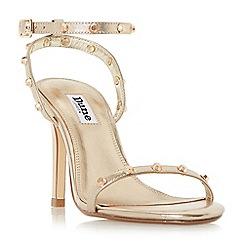 Dune - Bronze 'Macintosh' studded strap stiletto sandals