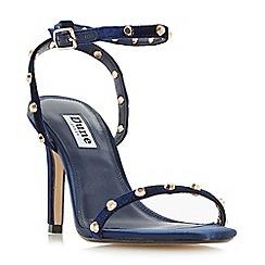Dune - Navy 'Macintosh' studded strap stiletto sandals