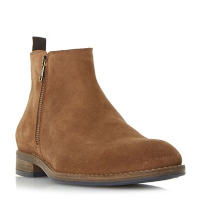 Dune - Tan 'Coleman' side zip casual ankle boots