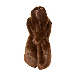 Dune - Brown 'Lovella' faux fur scarf