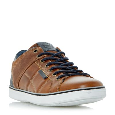 Dune - Tan 'Tobey' quilted panel trainers