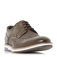 Bertie - Brown 'Baker hill' wedge sole brogues shoes