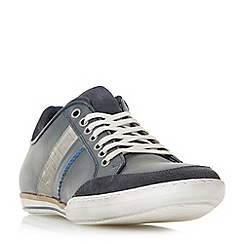 Dune - Navy 'Tito' stripe detail trainers