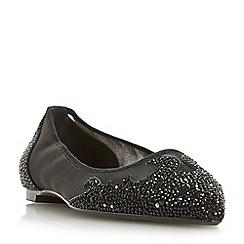 Dune - Black 'Bijou' point toe diamante embellished slip on shoes