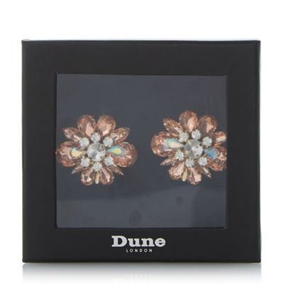 Dune - Light pink 'Special' jewelled shoe clips
