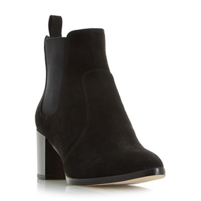 Head Over Heels by Dune - Black 'pagey' point toe chelsea ankle boots