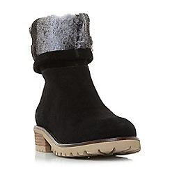 Steve Madden - Black suede 'Driller' mid block heel ankle boots