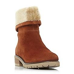 Steve Madden - Tan suede 'Driller' mid block heel ankle boots