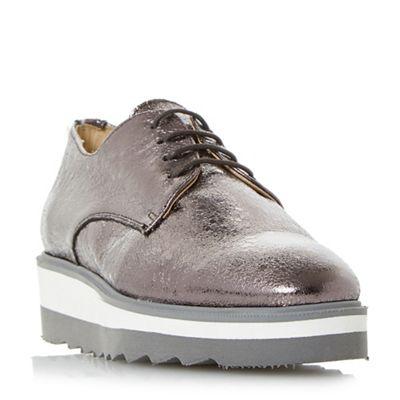 Dune - Metallic 'Faryl' lace up flatform shoes