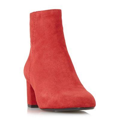 Dune - Red 'Olyvea' mid block heel ankle boots