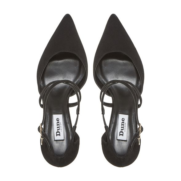 heel shoes Black strap cross 'Courtnee' Dune court kitten ZxRwBfUpq