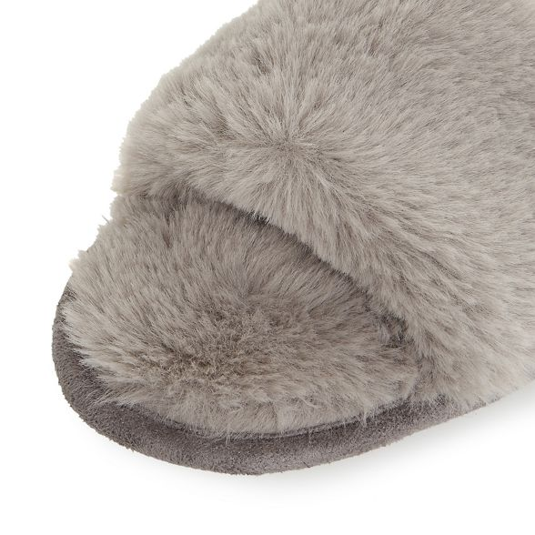 Heels 'Fraya' by Head fluffy slippers Dune Grey Over slider TR7wS