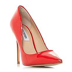 Steve Madden - Red leather 'Daisie' high stiletto heel court shoes