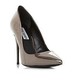 Steve Madden - Silver leather 'Daisie' high stiletto heel court shoes