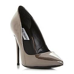 Steve Madden - Silver leather 'Daisie' high stiletto heel court shoes