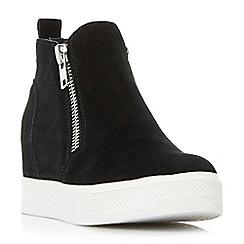3854e9aab33 Steve Madden - Black suede  Wedgie Steve Madden  mid wedge heel shoe boots