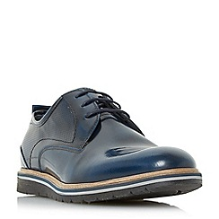 Dune - Navy 'Blazer' colour pop sole lace up shoes
