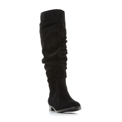 Steve Madden - Black suede 'Beacon' knee high boots