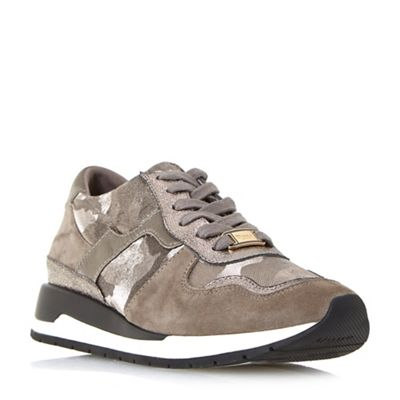 Dune - Grey 'Elena' lace up running trainers