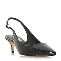 Dune - Black 'casandra' kitten heel slingback court shoes