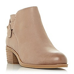 Steve Madden - Taupe leather 'Nicola' mid block heel ankle boots