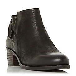 Steve Madden - Black leather 'Nicola' mid block heel ankle boots