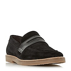 Bertie - Black 'Barking' casual penny loafers