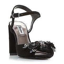 Dune - Black 'Moana' floral sequin two part sandals