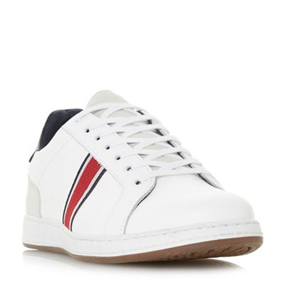 Dune - White 'Tagger' stripe detail trainers