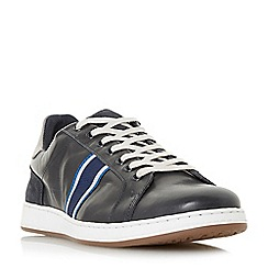 Dune - Navy 'Tagger' stripe detail trainers