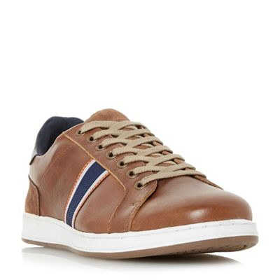 Dune - Tan 'Tagger' stripe detail trainers